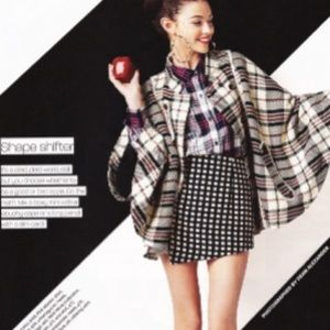 Pink Martini Collection Plaid Poncho